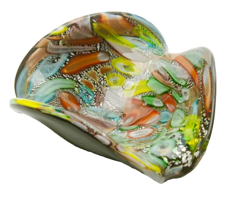 20th Century Tutti Frutti Murano Art Glass Bowl by Dino Martens, 1960s For Sale