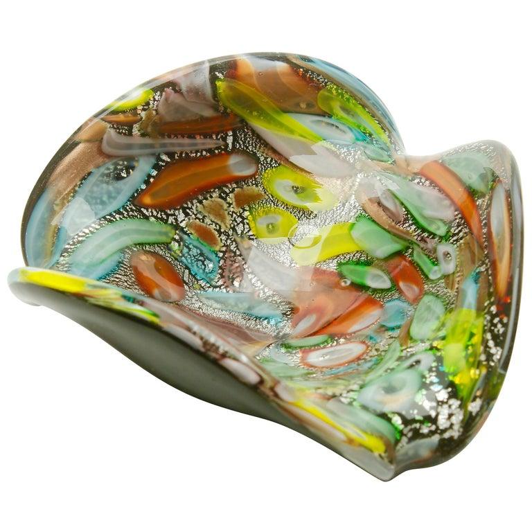 Tutti Frutti Murano Art Glass Bowl by Dino Martens, 1960s For Sale