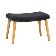 Tux Footstool, Nanna and Jorgen Ditzel, Lacquered Oak