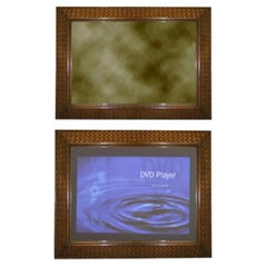 TV Mirror Hand Carved Woven Frame
