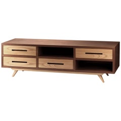 TV Stand Space in Walnut and Oak