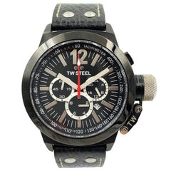 TW Steel CEO Canteen Quartz Steel and Leather Casual Men's Watch CE1033