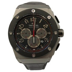 TW Steel Grey Chronograph Dial Stainless Steel Quartz Men's Watch CE4001