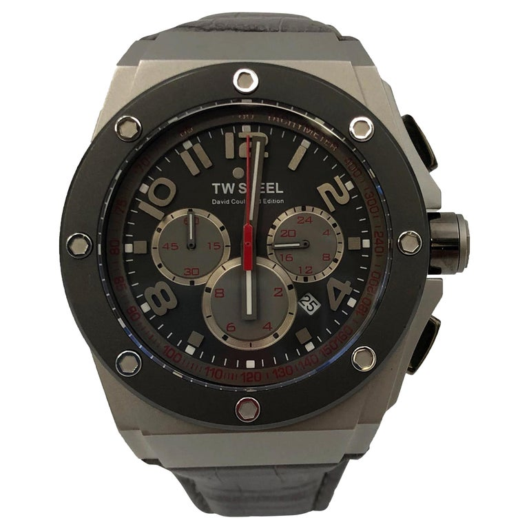 TW Steel Grey Chronograph Dial Stainless Steel Quartz Men's Watch CE4001 For Sale