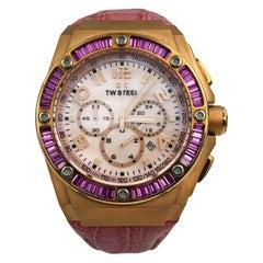 TW Steel Kelly Rowland Edition Quartz Pink MOP Arabic Dial Men's Watch CE4006
