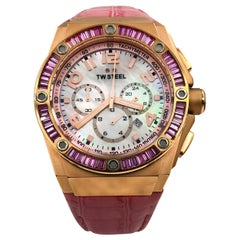 TW Steel Pink MOP Arabic Dial Quartz Kelly Rowland Edition Men's Watch CE4006