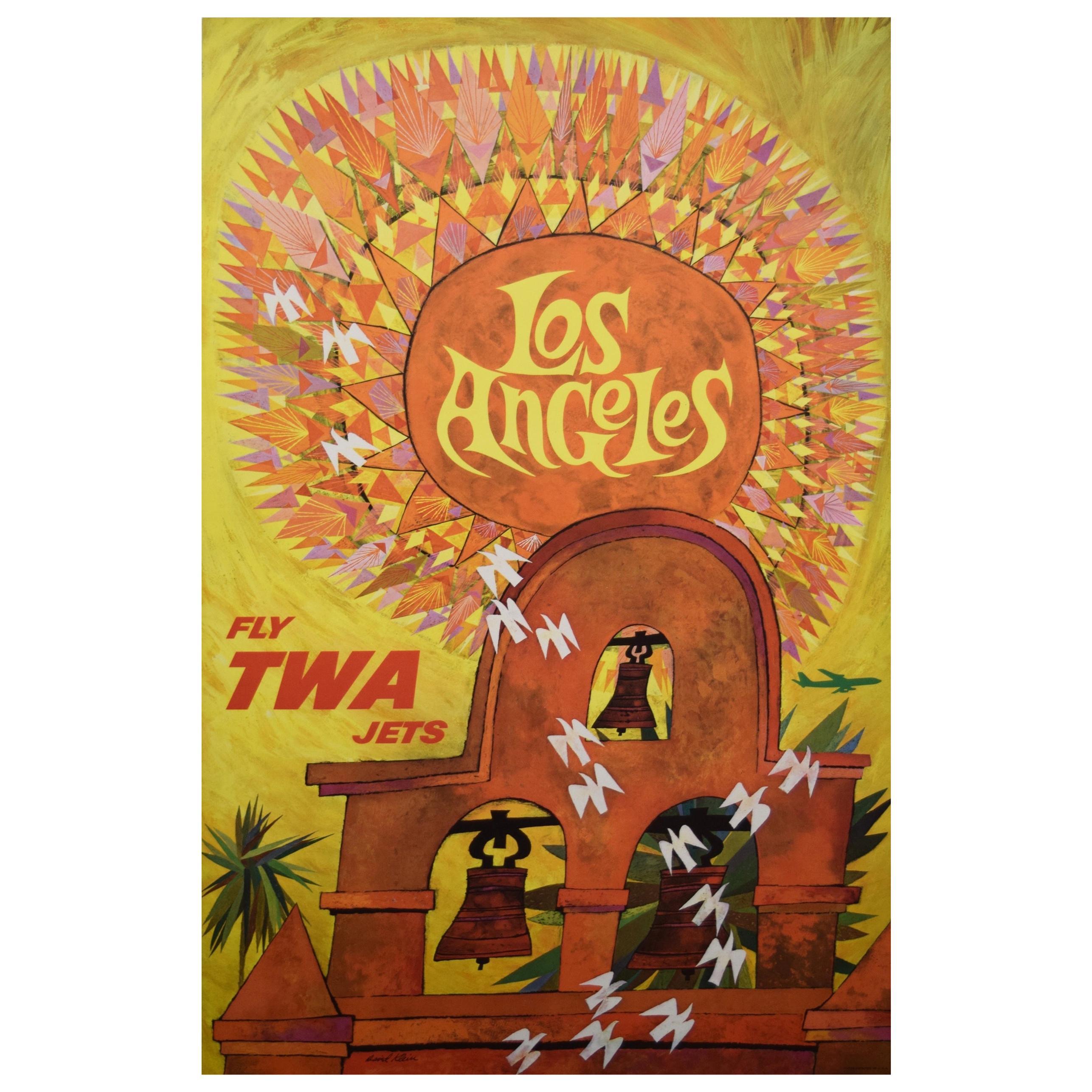 TWA Los Angeles 1960s Travel Poster, Klein