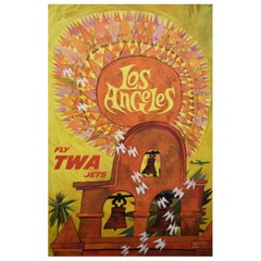 TWA Los Angeles 1960s Travel Poster, Klein