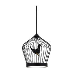 Twee T. Black Small Suspension Lamp by Jake Phipps