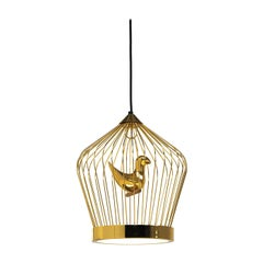 Twee T. Gold Small Suspension Lamp by Jake Phipps
