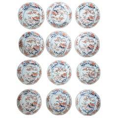 Twelve 18th Century Japanese Imari Plates