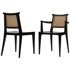 Twelve Asian Dining Chairs by Edward Wormley for Dunbar