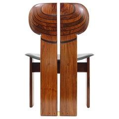 Twelve Aura & Tobia Scarpa Rosewood Africa Chairs, Artona, Maxalto, Italy, 1970s