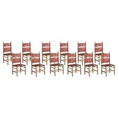 "Twelve Chairs ""783"" by Carlo Scarpa, Bernini Production Year, 1977"