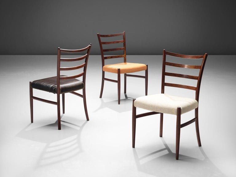 Twelve Danish Rosewood Dining Chairs In Good Condition For Sale In Waalwijk, NL