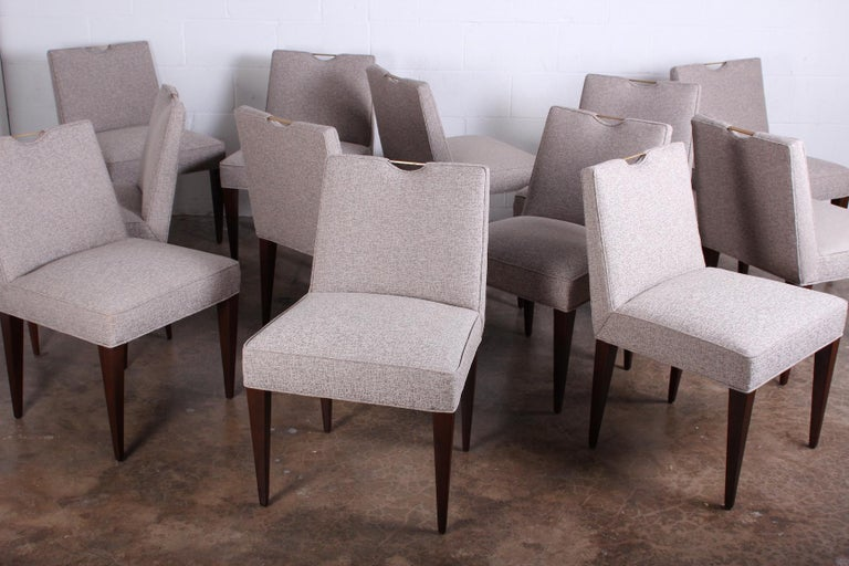 Twelve Dining Chairs by Edward Wormley for Dunbar For Sale 5