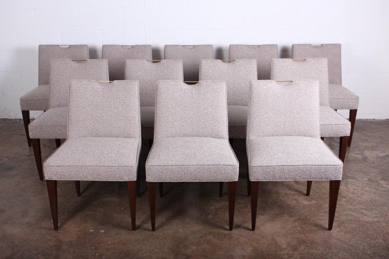 Twelve Dining Chairs by Edward Wormley for Dunbar For Sale 3
