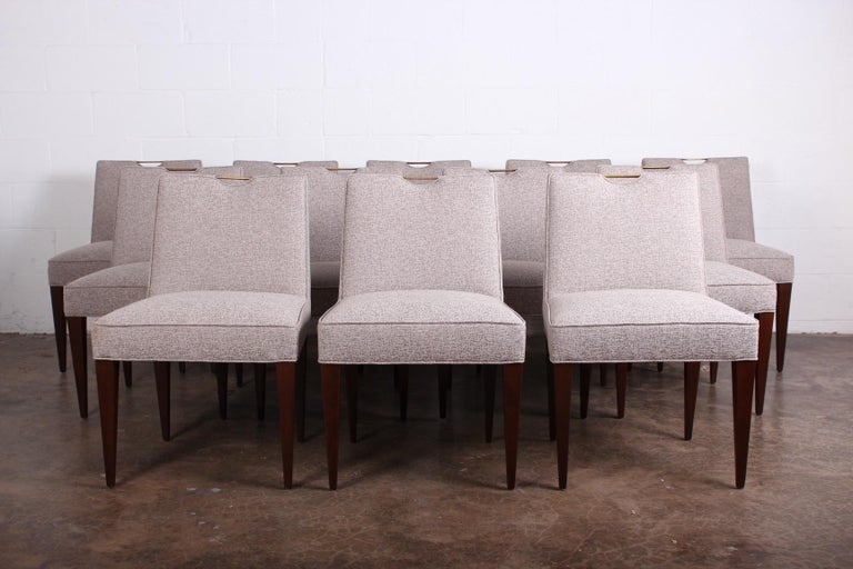 Twelve Dining Chairs by Edward Wormley for Dunbar For Sale 4