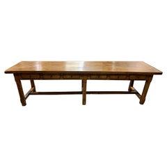 Twelve Drawer Oak Monastery Table