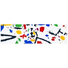 Twelve Feet Long Abstract Painting by Gerald Campbell