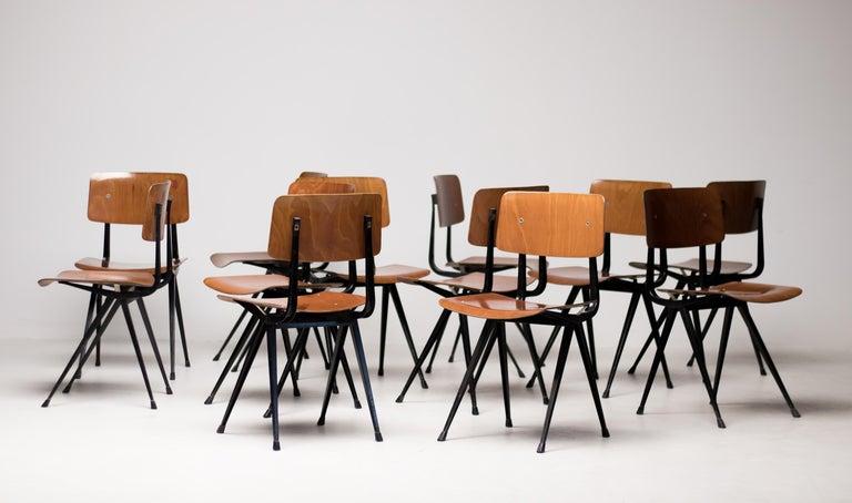 Twelve Friso Kramer Result Chairs, 1952 For Sale 6