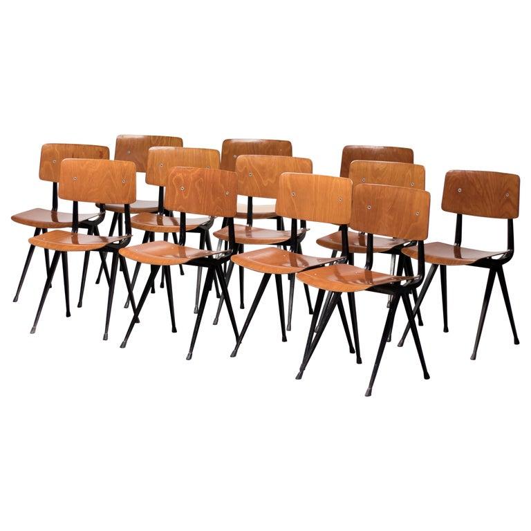 Twelve Friso Kramer Result Chairs, 1952 For Sale