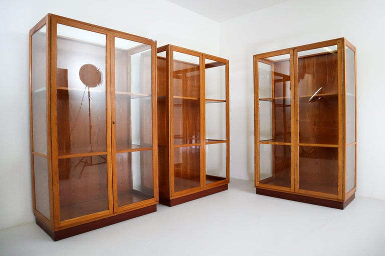 Twelve Glazed Display Cabinets from The National Museum in Praque, 1950s For Sale 3