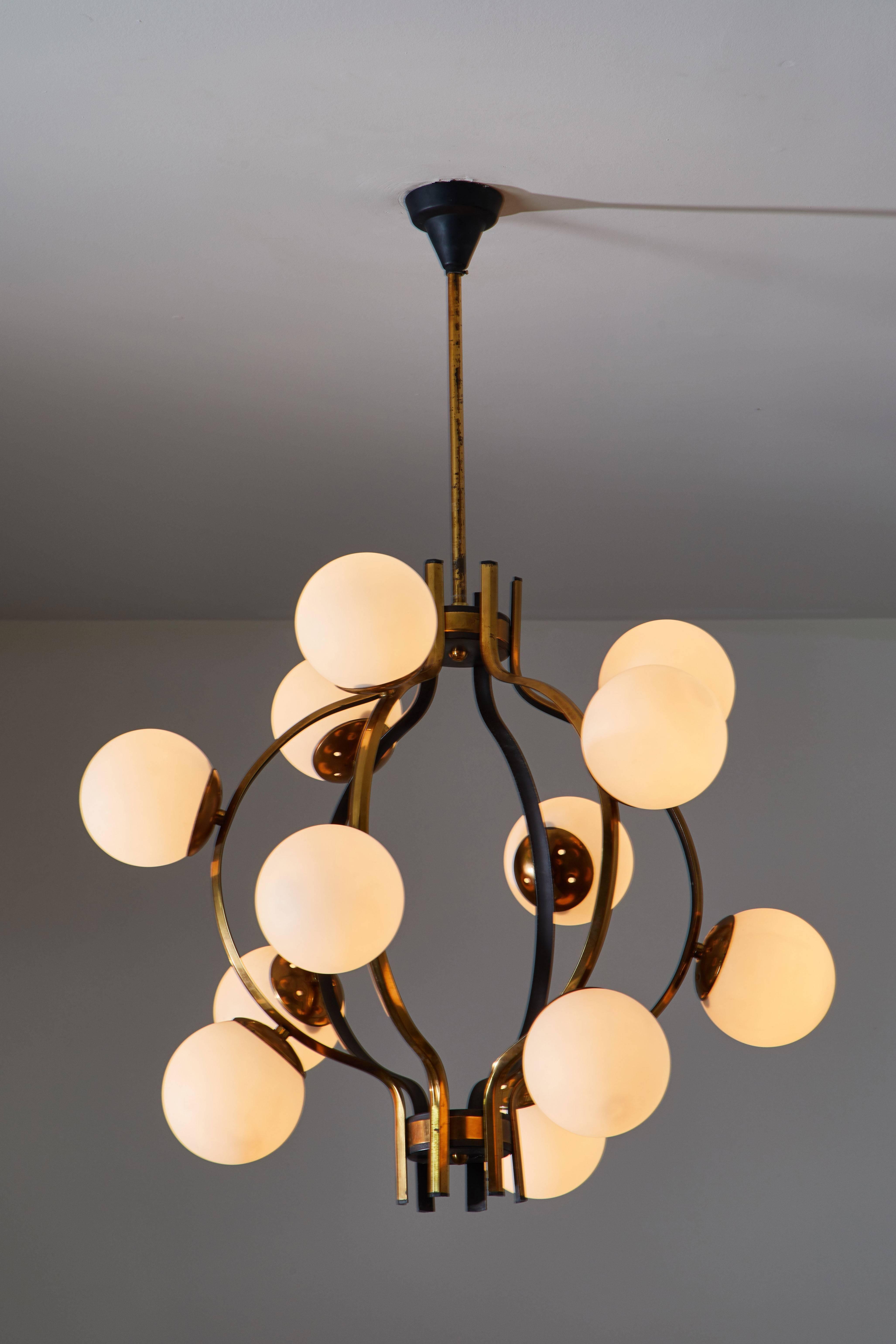 Twelve globe chandelier by stilnovo for sale at 1stdibs arubaitofo Gallery