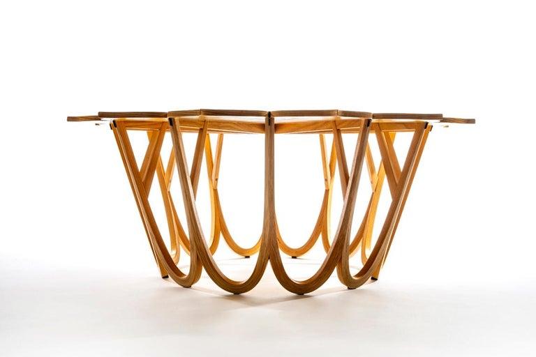 American Twelve Leaf Resin Table by Michael Hurwitz For Sale