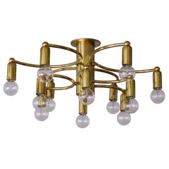 Twelve-Light Flush Mount Light