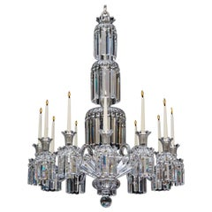 Twelve-Light William IV Crystal Chandelier Attributed to Perry & Co