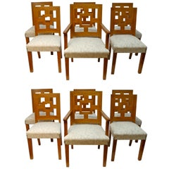 Eight Modernist Dining Chairs In The Manner of Francis Jourdain