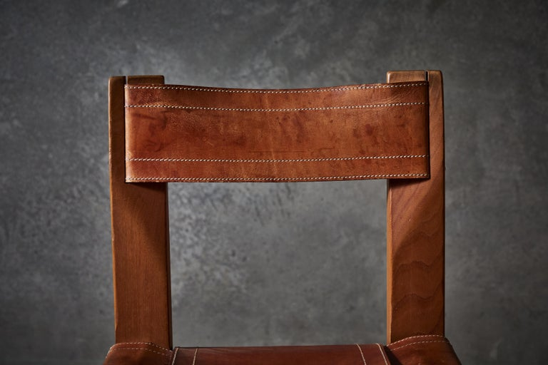 Twelve S11 Chairs by Pierre Chapo For Sale 8