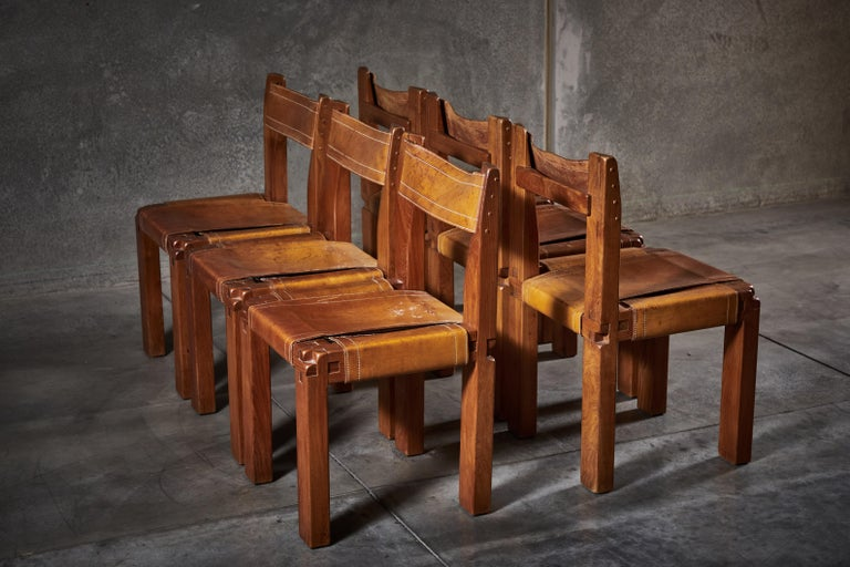 Twelve S11 Chairs by Pierre Chapo In Good Condition For Sale In Los Angeles, CA