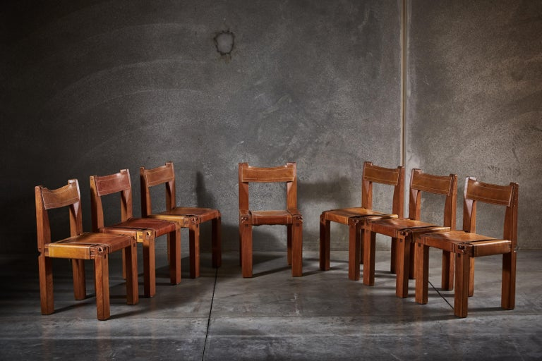 Twelve S11 Chairs by Pierre Chapo For Sale 1