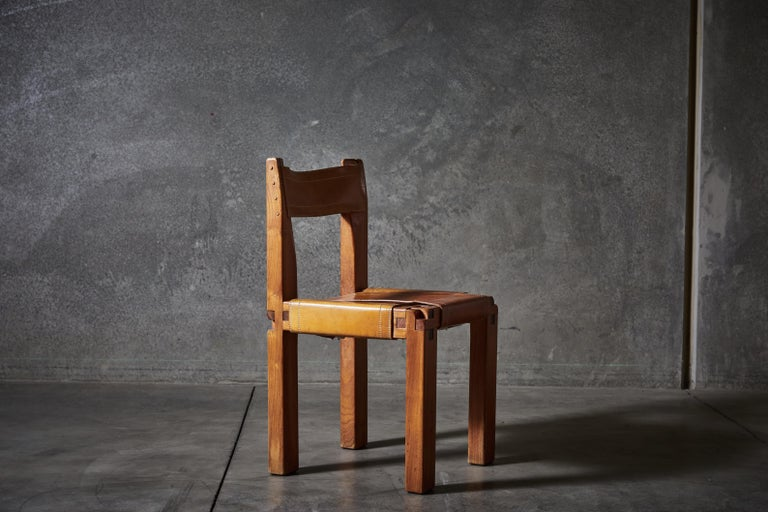 Twelve S11 Chairs by Pierre Chapo For Sale 2