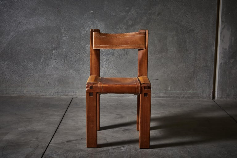 Twelve S11 Chairs by Pierre Chapo For Sale 3