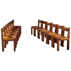 Twelve S11 Chairs by Pierre Chapo