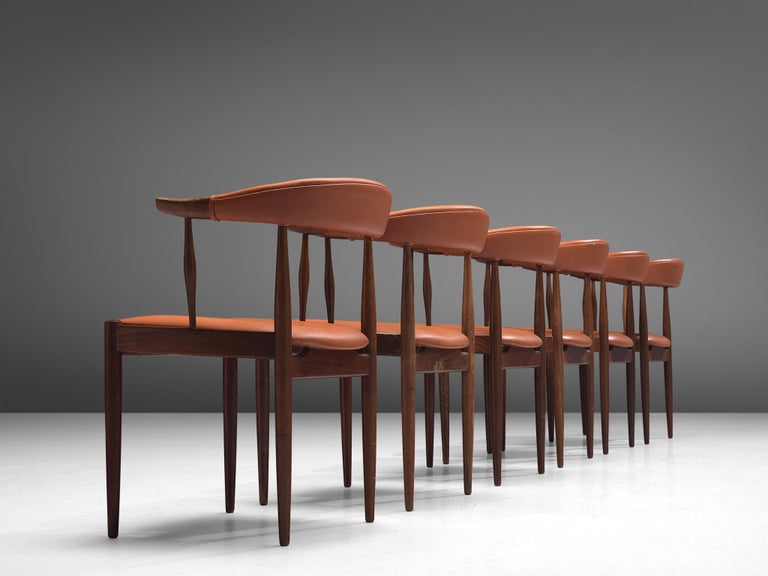 Danish Twelve to Be Reupholstered 'Bull Horn' Chairs by Johannes Andersen For Sale