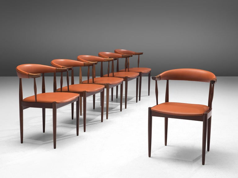 Twelve to Be Reupholstered 'Bull Horn' Chairs by Johannes Andersen In Good Condition For Sale In Waalwijk, NL