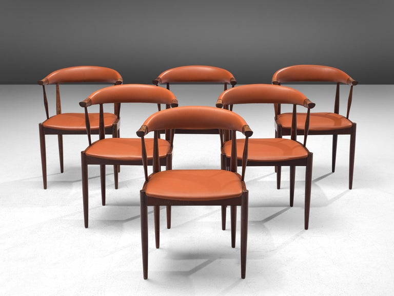 Mid-20th Century Twelve to Be Reupholstered 'Bull Horn' Chairs by Johannes Andersen For Sale