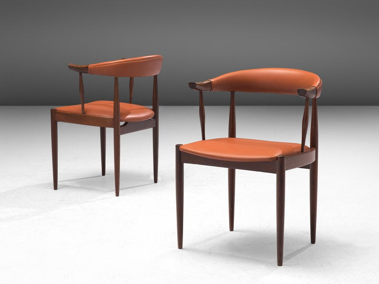 Twelve to Be Reupholstered 'Bull Horn' Chairs by Johannes Andersen For Sale 2