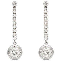 Twenty Diamonds Platinum Drop Earrings