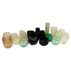 Twenty George Sakier Vases for Fostoria