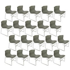 Twenty Massimo Vignelli Handkerchief Chairs for Knoll in Gray