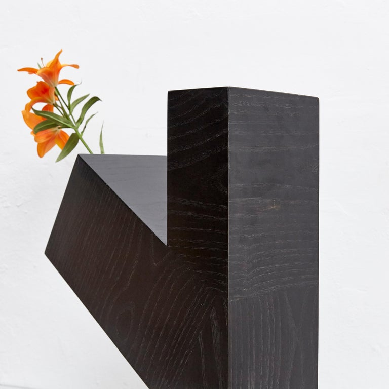 Late 20th Century Twenty-Seven Woods, Chinese Artificial Flower Vase Omega by Ettore Sottsass For Sale
