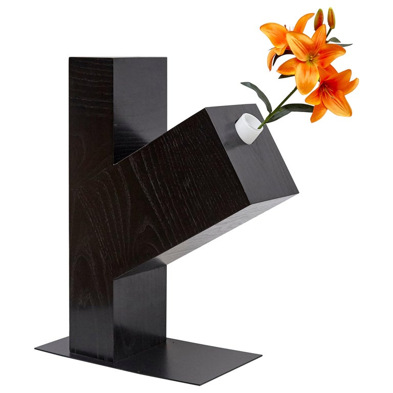 Twenty-Seven Woods, Chinese Artificial Flower Vase Omega by Ettore Sottsass For Sale