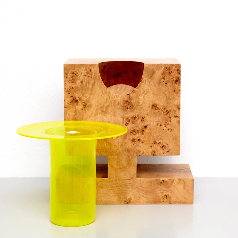 Twenty-Seven Woods for a Chinese Artificial Flower Vase L by Ettore Sottsass For Sale 3