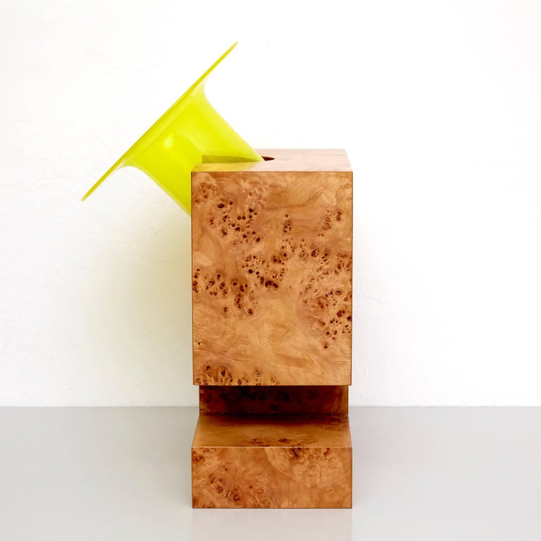 Twenty-Seven Woods for a Chinese Artificial Flower Vase L by Ettore Sottsass In Good Condition For Sale In Barcelona, Barcelona