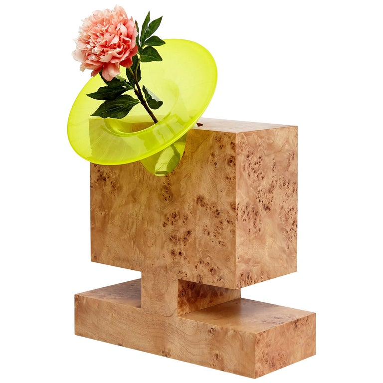 Twenty-Seven Woods for a Chinese Artificial Flower Vase L by Ettore Sottsass For Sale